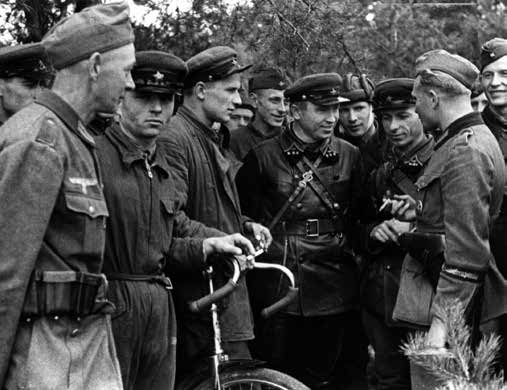 Meeting of Soviet and German troops  in Poland. September 1939